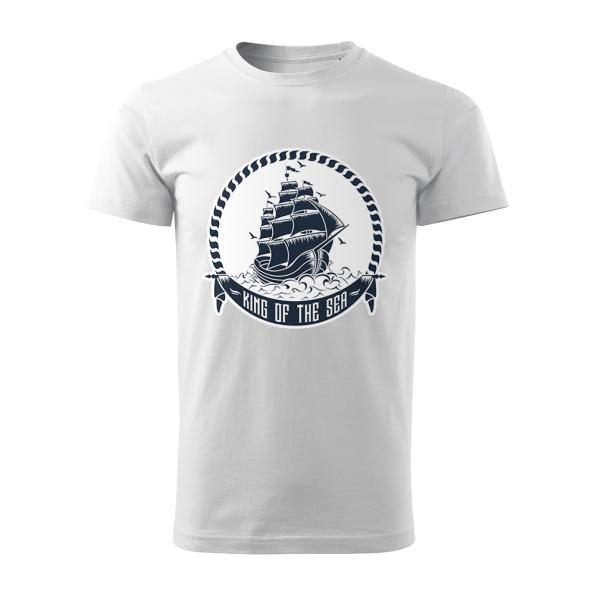 tricko_panske_biele_king_of_the_sea