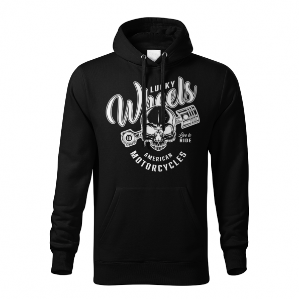 186 – American Custom – Lucky wheels 2 – mikina_panske_cierna