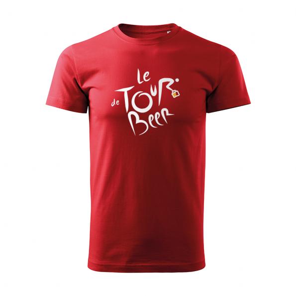 ID0110 – vtipne – le_tour_de_beer – tricko_panske_cervena