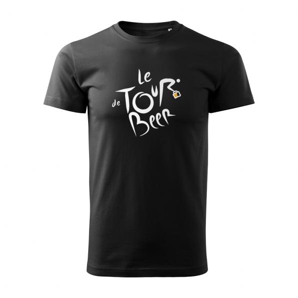 ID0110 – vtipne – le_tour_de_beer – tricko_panske_cierna
