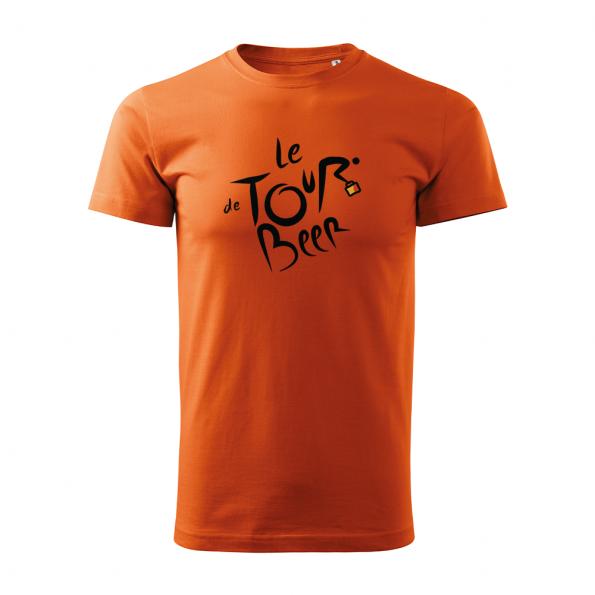 ID0110 – vtipne – le_tour_de_beer – tricko_panske_oranzova