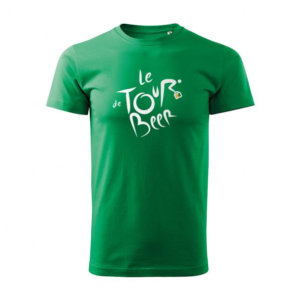 ID0110 – vtipne – le_tour_de_beer – tricko_panske_zelena