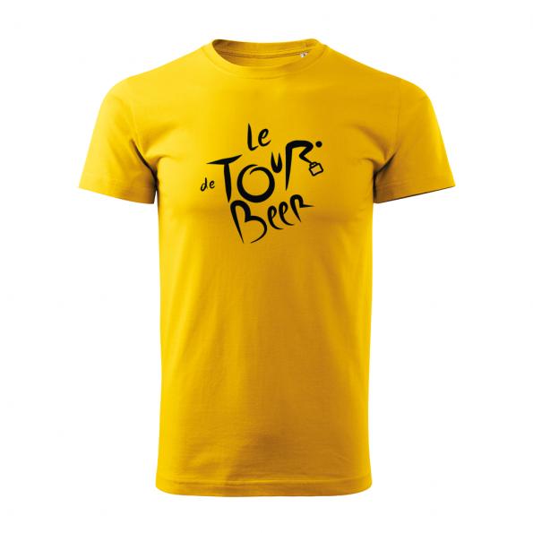 ID0110 – vtipne – le_tour_de_beer – tricko_panske_zlta