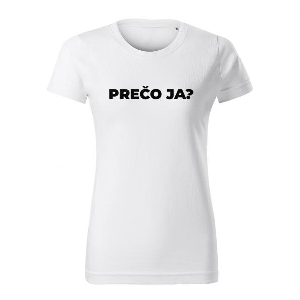 ID0113 – vtipne – preco_ja – tricko_damske_biela