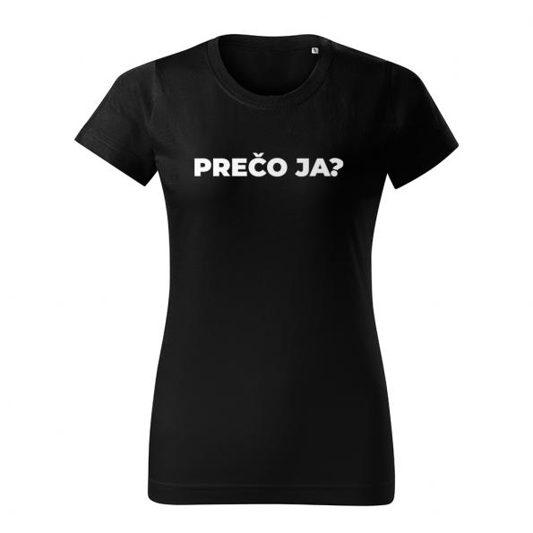 ID0113 – vtipne – preco_ja – tricko_damske_cierna