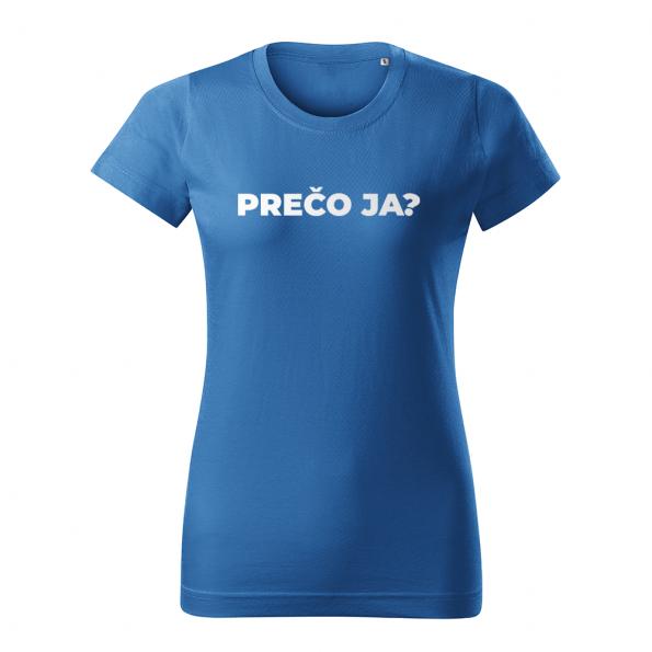 ID0113 – vtipne – preco_ja – tricko_damske_modra
