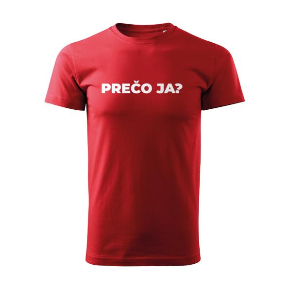 ID0113 – vtipne – preco_ja – tricko_panske_cervena