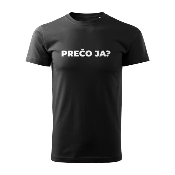 ID0113 – vtipne – preco_ja – tricko_panske_cierna