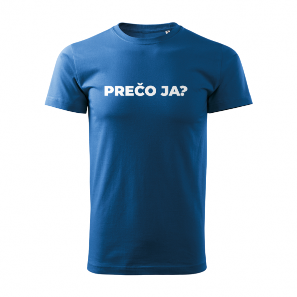 ID0113 – vtipne – preco_ja – tricko_panske_modra
