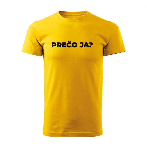 ID0113 – vtipne – preco_ja – tricko_panske_zlta