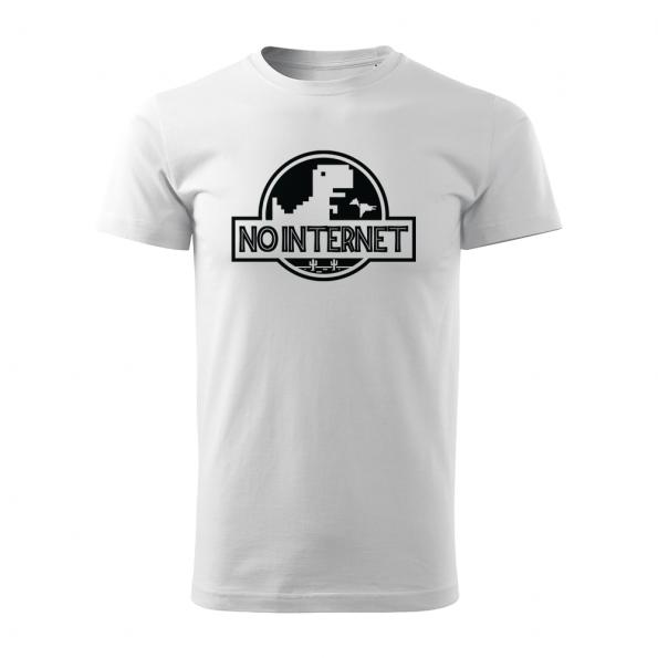 ID0117 – vtipne – no_internet – tricko_panske_biela