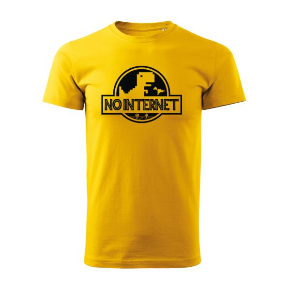 ID0117 – vtipne – no_internet – tricko_panske_zlta