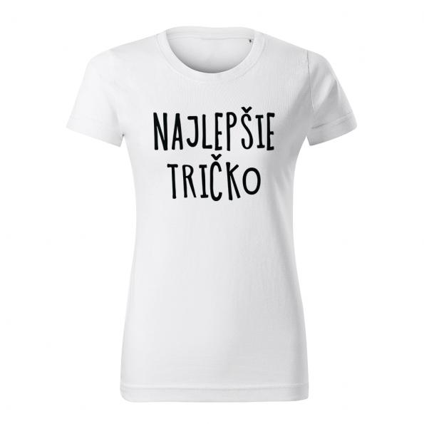 ID0128 – vtipne – najlepsie_tricko – tricko_damske_biela