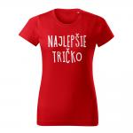 ID0128 – vtipne – najlepsie_tricko – tricko_damske_cervena