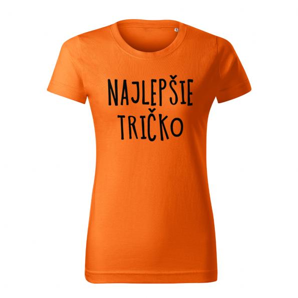 ID0128 – vtipne – najlepsie_tricko – tricko_damske_oranzova