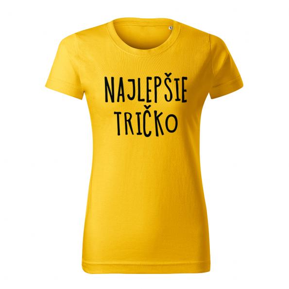 ID0128 – vtipne – najlepsie_tricko – tricko_damske_zlta