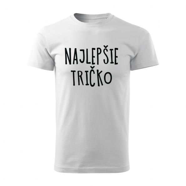 ID0128 – vtipne – najlepsie_tricko – tricko_panske_biela