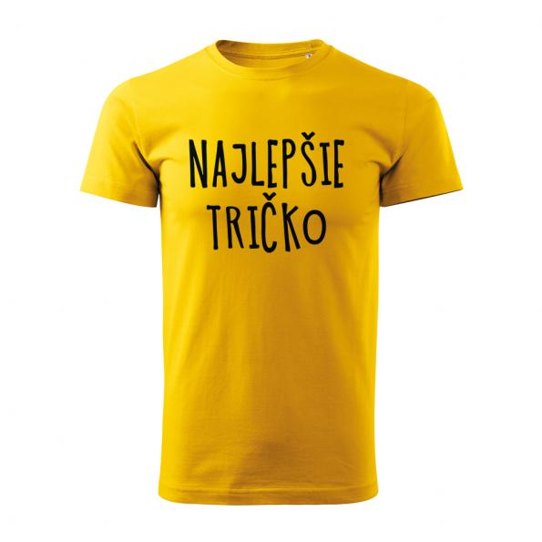 ID0128 – vtipne – najlepsie_tricko – tricko_panske_zlta