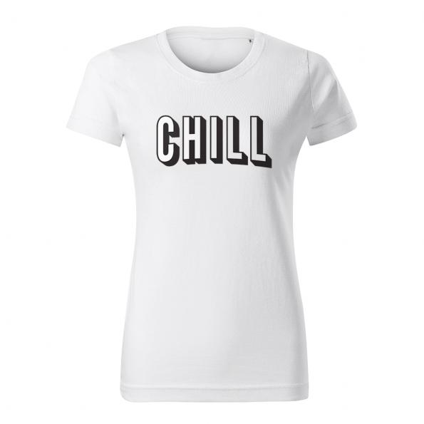 ID0130 – vtipne – netflix_chill_02 – tricko_damske_biela