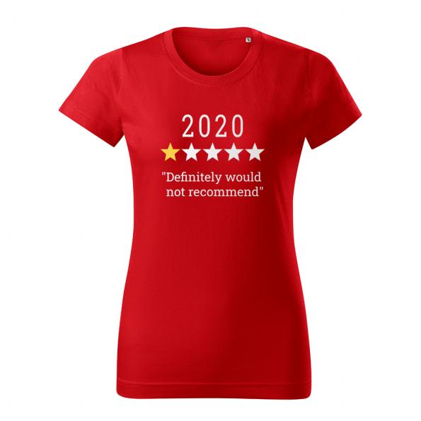 ID0132 – vtipne – 2020 – tricko_damske_cervena
