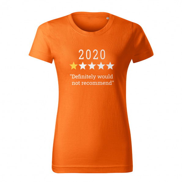 ID0132 – vtipne – 2020 – tricko_damske_oranzova