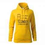 ID0120 – vtipne – technicky_je_pohar_uplne_plny – mikina_damska_cierna