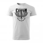184 – American Custom – Ride fast or die last – tricko_panske_cierna