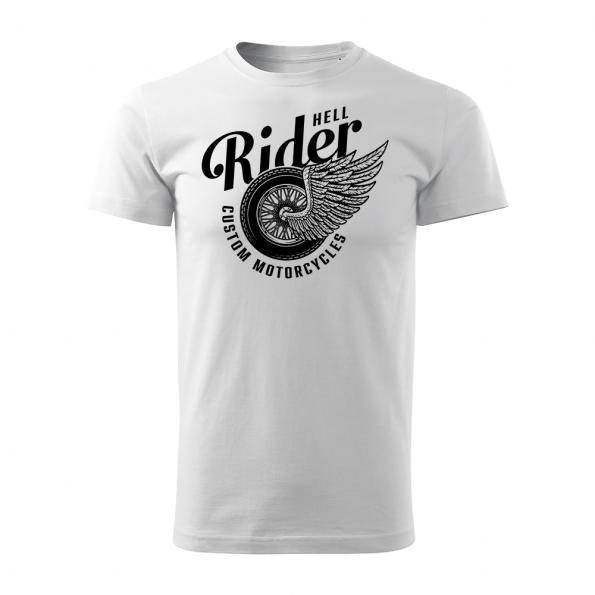 185 – Custom Motorcycles – Hell rider – tricko_panske_biela