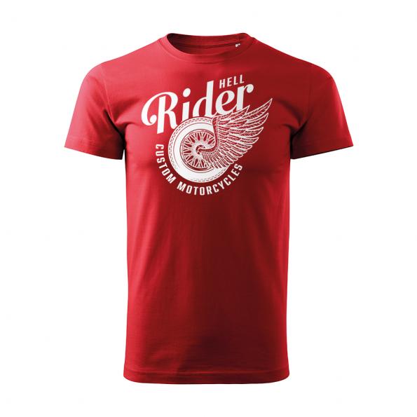 185 – Custom Motorcycles – Hell rider – tricko_panske_cervena