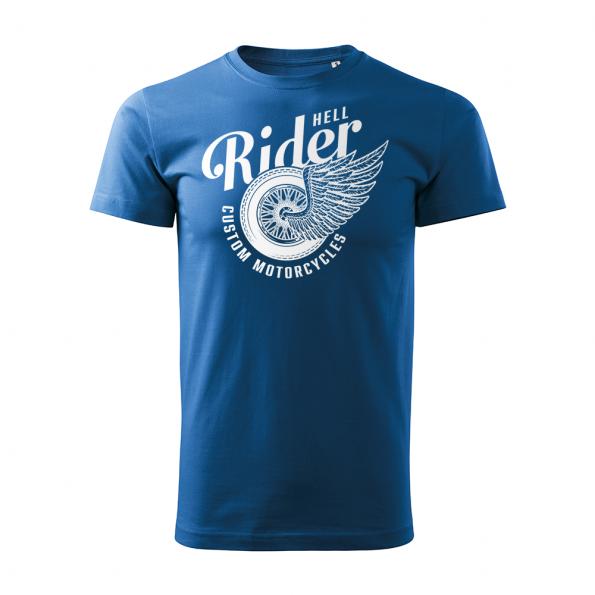 185 – Custom Motorcycles – Hell rider – tricko_panske_modra