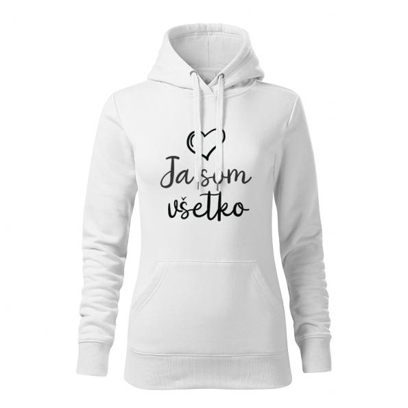 ID0402 – Mam_vsetko_co_potrebujem – mikina_damska_biela