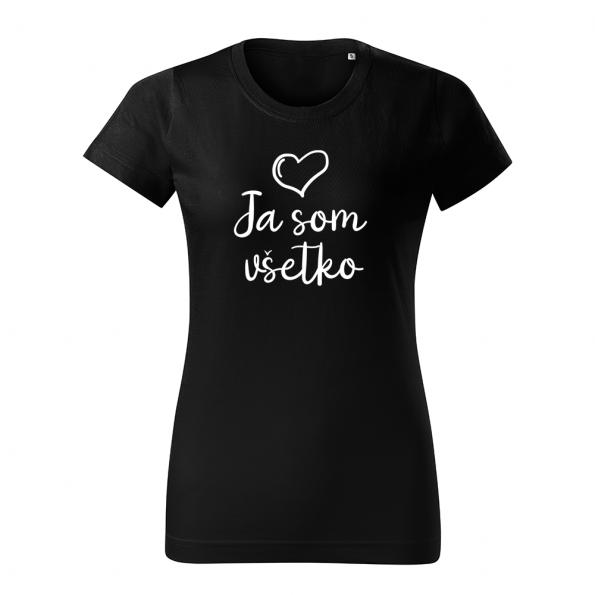 ID0402 – Mam_vsetko_co_potrebujem – tricko_damske_cierna