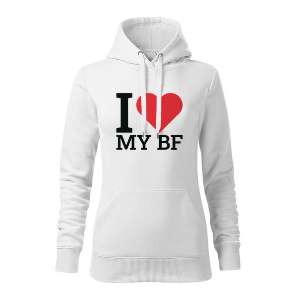 ID0409 – I_love_my_BF – mikina_damska_biela