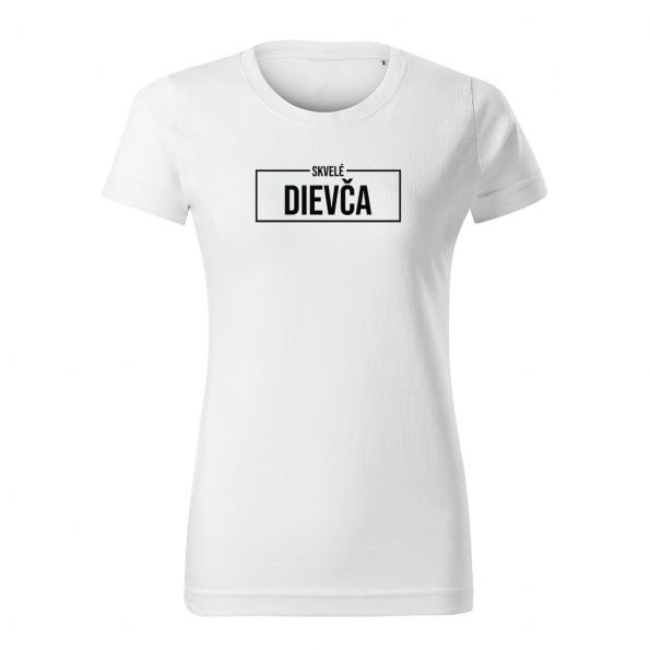 ID0414 – Skvele_dievca – tricko_damske_biela