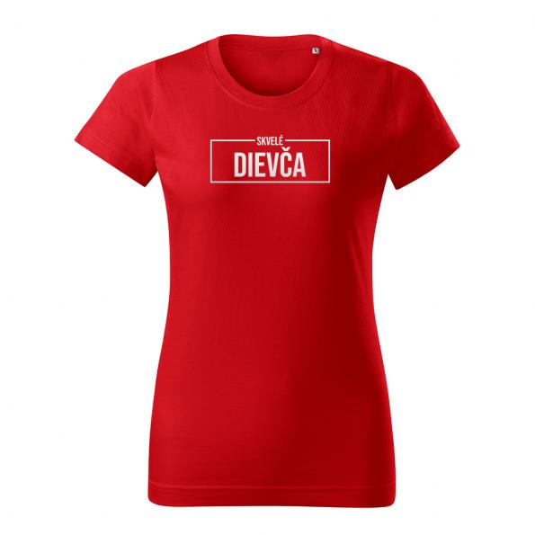 ID0414 – Skvele_dievca – tricko_damske_cervena