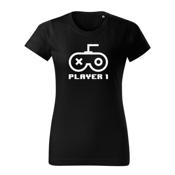 ID0420 – Player – tricko_damske_cierna