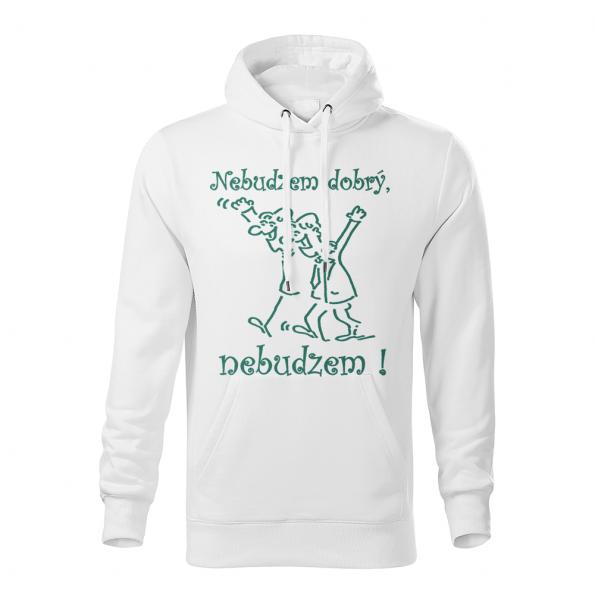 ID0153 – vtipne – nebudzem_dobry_nebudzem -mikina_panske_biela